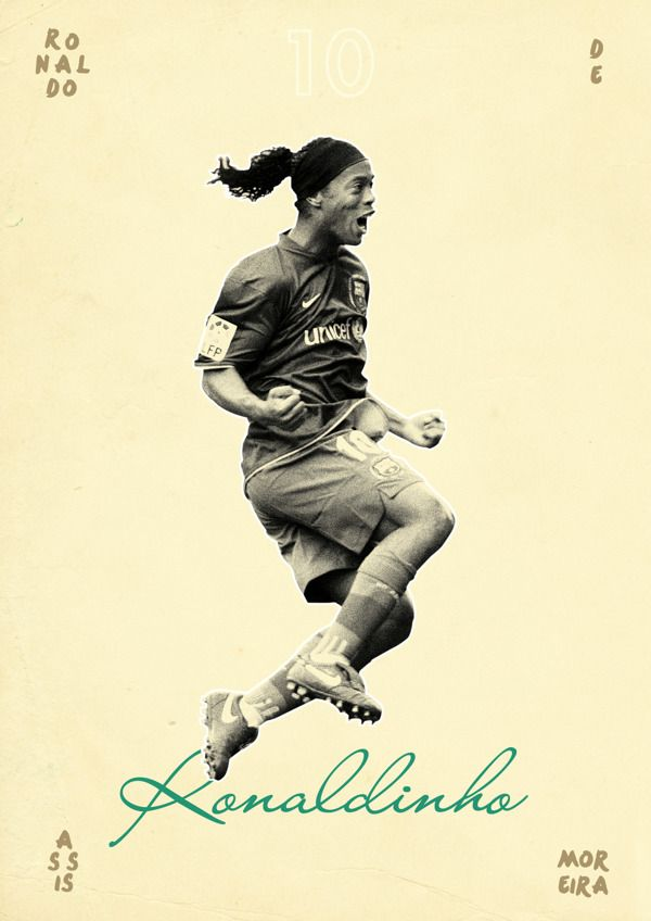 Football Legends by Dylan Giala, via Behance... 1