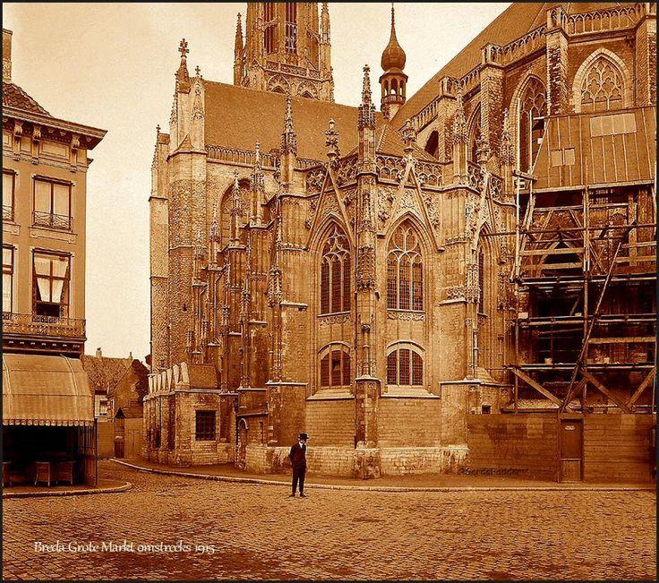 Grote Markt Breda omstreeks 1915