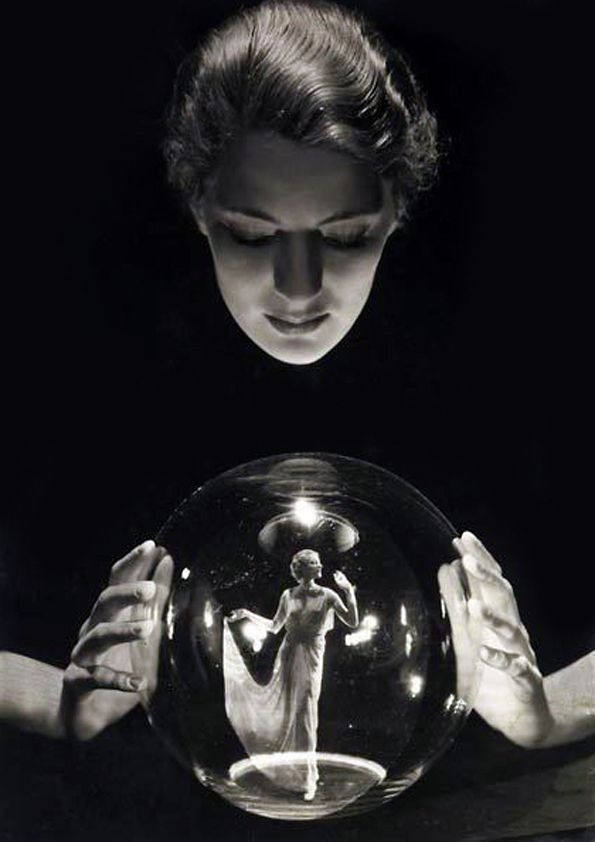 Crystal Ball, ca. 1920s, photo by  George Hoyningen-Huene, with model Lee Miller.