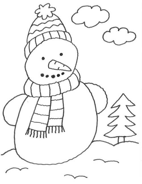 Ausmalbilder Schneemann Einfach Fur Kinder Winter December Blackandwhite Ausmalbild Schneemann Ausmalbilder Ausmalen