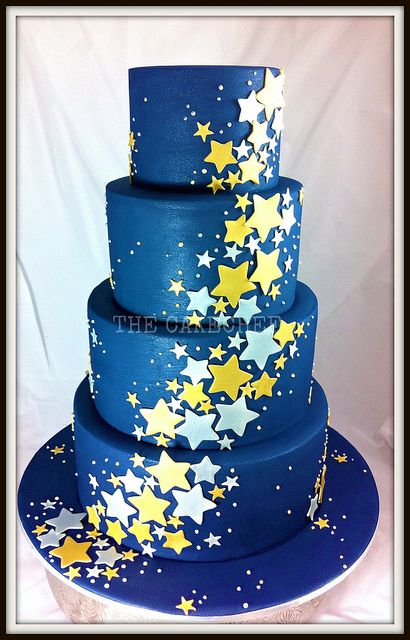 starrynight wedding | starry starry night a very non traditional wedding cake 4 tier 12 10 8 ...