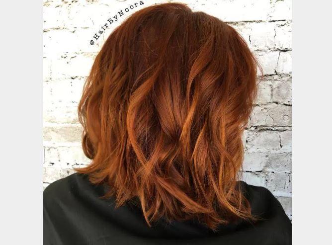 Kısa Bob Saç Bakır Kahve Saç Renkleri