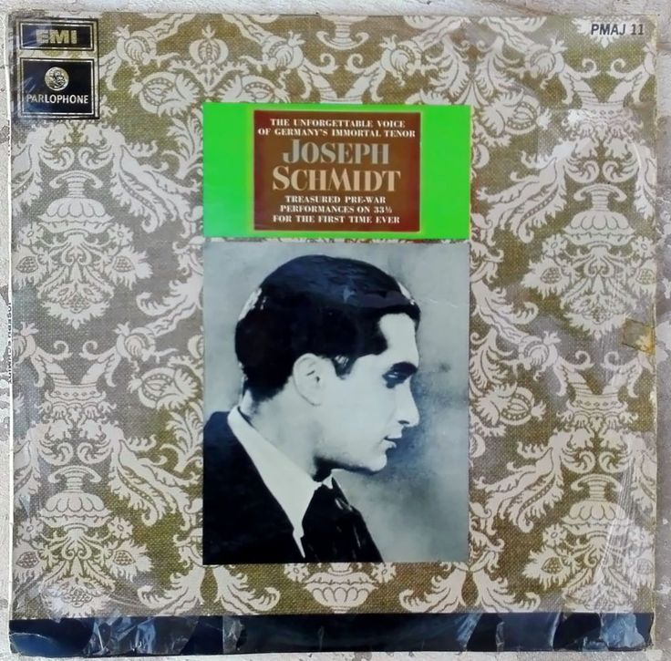 Joseph Schmidt Pre - War Performances on 33 1/3 for the first time ever. 1969 LP