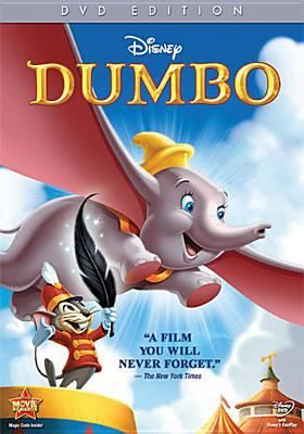 "DVD.  The stork delivers a baby elephant to Mrs. Jumbo, who happens to be a veteran of the circus, but the newborn is soon ridiculed because of his truly gigantic ears and is dubbed ""Dumbo"". Dumbo is relegated to the circus' clown acts. It is up to Dumbo's only true friend, Timothy Q. Mouse, to assist Dumbo to achieve his full potential."