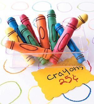 Pretzel Crayons: Pretzels Crayons, Crayons Pretzels, Candy Pretzels, Schools Supplies, Candy Melted, Schools Treats, Ideas Kids, Kids Classroom, Kids Food
