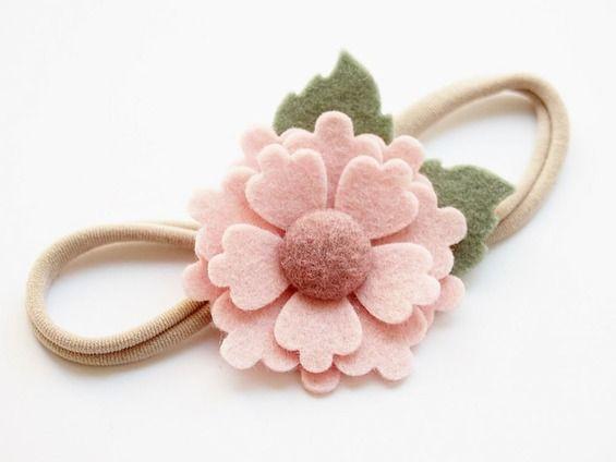 Opaska Do Wlosow Z Kwiatem Baby Flower Headbands Felt Flower Headband Baby Headbands