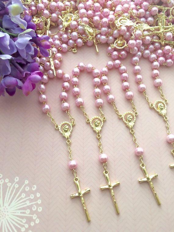 25 stuks glas Pearl rozenkransen eerste communie door AVAandCOMPANY