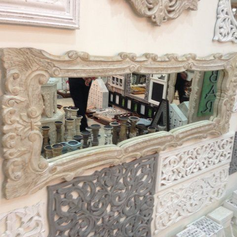 We are in love with this beautiful mirror wall art...    To purchase or enquire email us: info@handmadeworld.in or call us: +91 9899440144 (India)