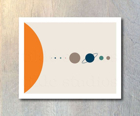 Scale of the Solar System Art Print - wall art, home decor, bedroom decor, gift idea, space planet print poster