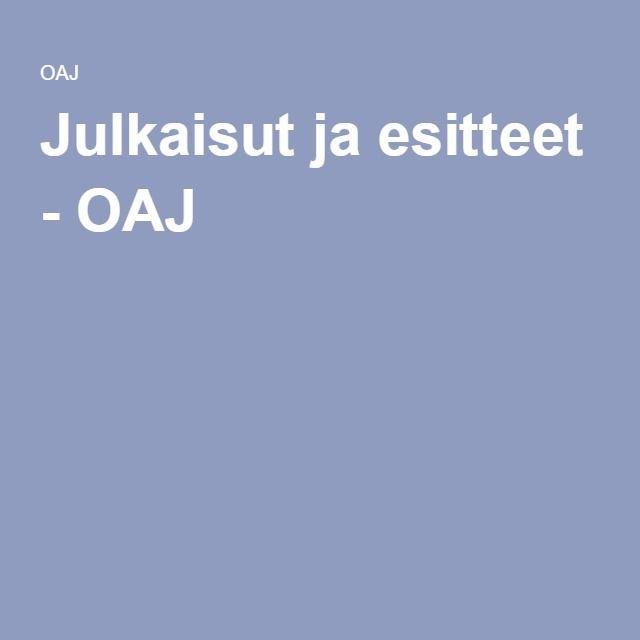 Julkaisut ja esitteet - OAJ