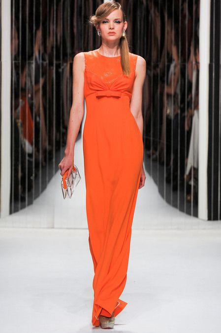 Jenny Packham Spring 2013 rtw: Orange Fashion, 2013 Readytowear, Jennypackham, Fashion Week, 2013 Spring, Spring 2013, Packham Spring, Glamorous Chic Life, Jenny Packham