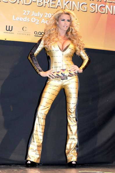 Katie Price attempts to break the Guinness World Record for the largest book signing at the O2 Academy on July 27 2011 in Leeds United Kingdom
