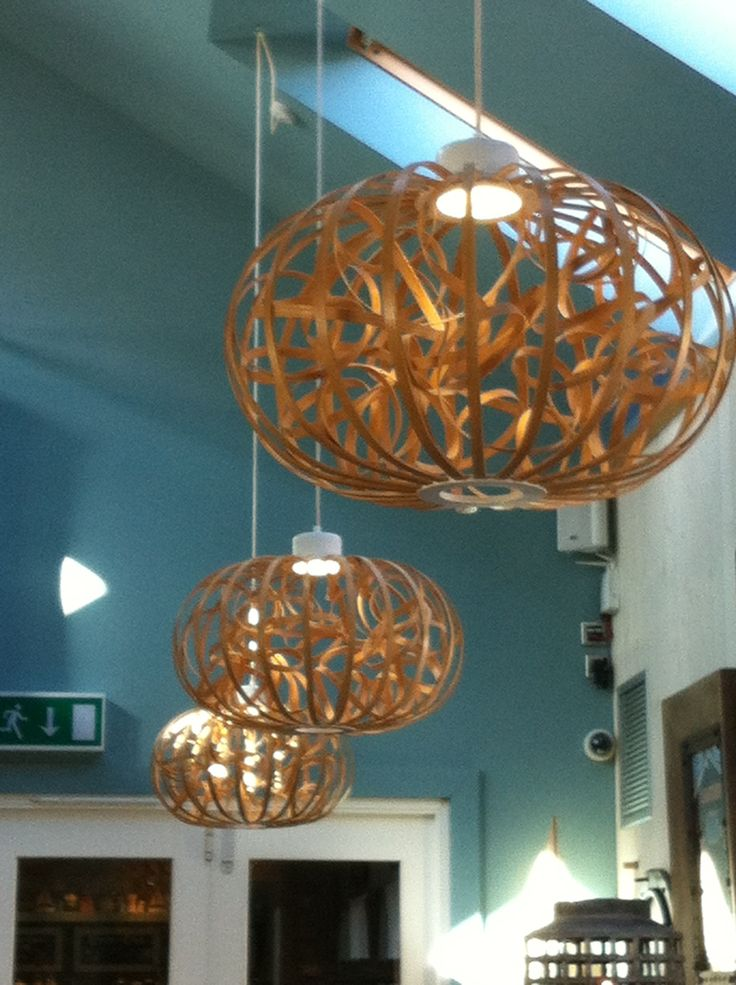 Twirly wooden lamp shades