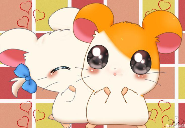 Hamtaro and bijou by jirachicute28
