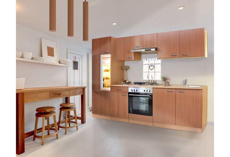Kuchenzeile Mit Edelstahl Kochmulde Basic Breite 270 Cm Kuchenzeilen Kuche Und Kuche Kaufen