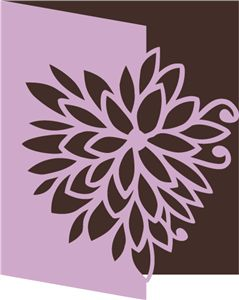 Silhouette Online Store - View Design #11334: chrysanthemum card