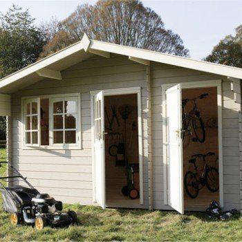 Abri de jardin en bois Eauze, 12.38 m², ép. 28 mm | Leroy Merlin