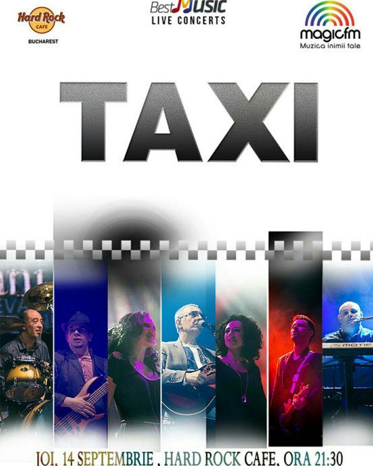 Joi 14 Septembrie, ora 21:30, Trupa TAXI revine la Hard Rock Cafe Bucharest, în cadrul unui concert organizat şi prezentat de BestMusic.  Mai multe detalii: http://www.vipstyle.ro/concert-taxi-2/