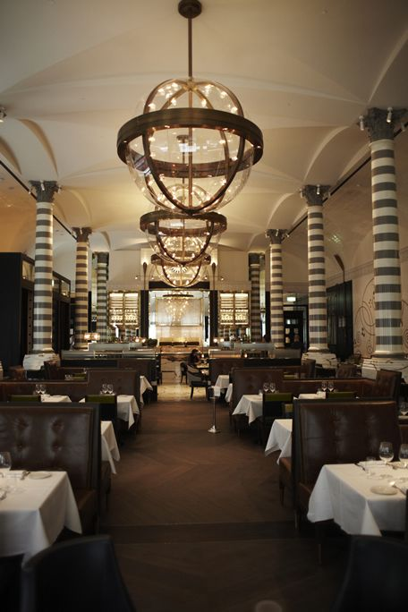 massimo restaurant in the uk designed by mr david collins gorgeous love those - Beaded Inset Restaurant Interior
