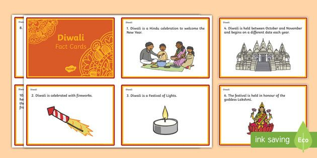 * NEW * Diwali Fact Cards