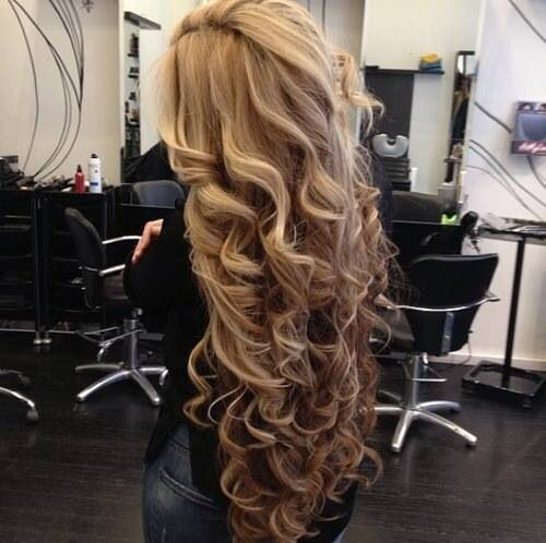 Curls on long hair