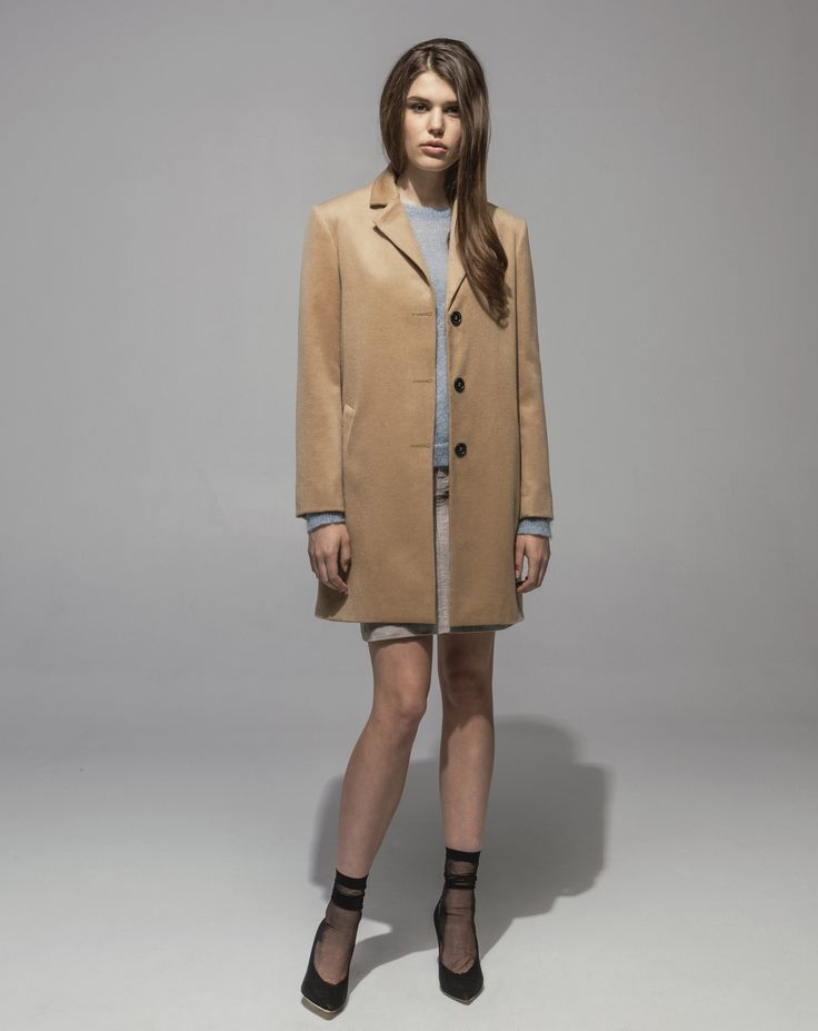 Lambswool Cashmere Girlfriend Coat (Camel) Metallic Mohair Sweater (Moonstone) 16 Wale Stretch Cord 5 Pocket Skirt (Sand)