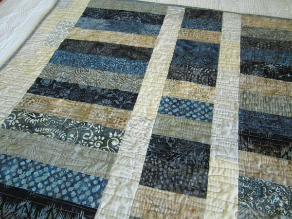 Batik Quilt In Blue Gray And Tan Quilts Batik Quilts Homemade Quilts