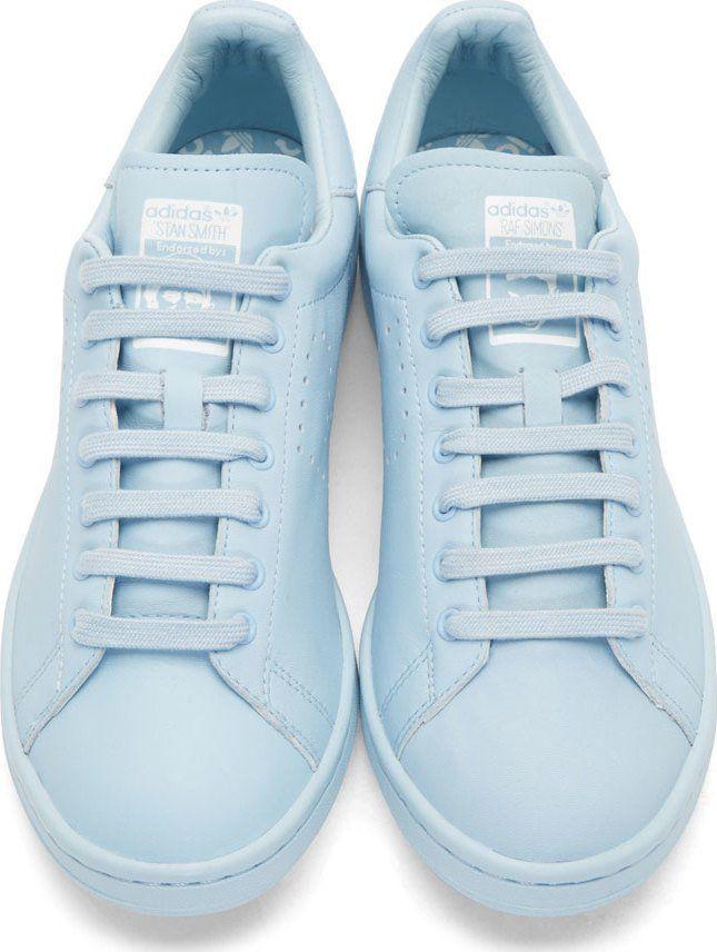 Raf Simons Blue adidas by RAF SIMONS Stan Smith Sneakers | @bingbangnyc