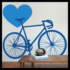 #Bike wall sticker - blue room  #decor