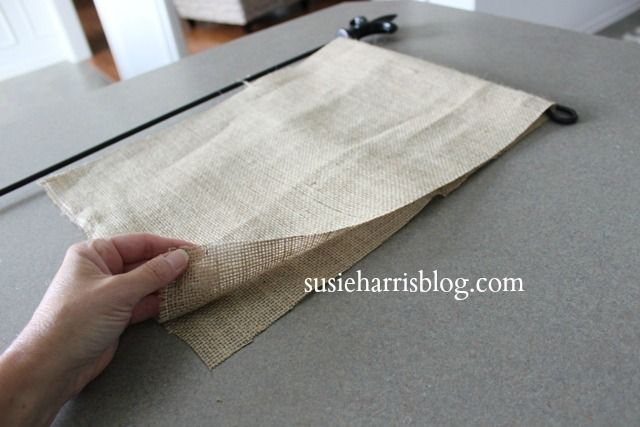 Painted Burlap Flag DIY