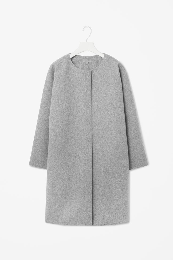 MINIMAL + CLASSiC: Curved seam wool coat