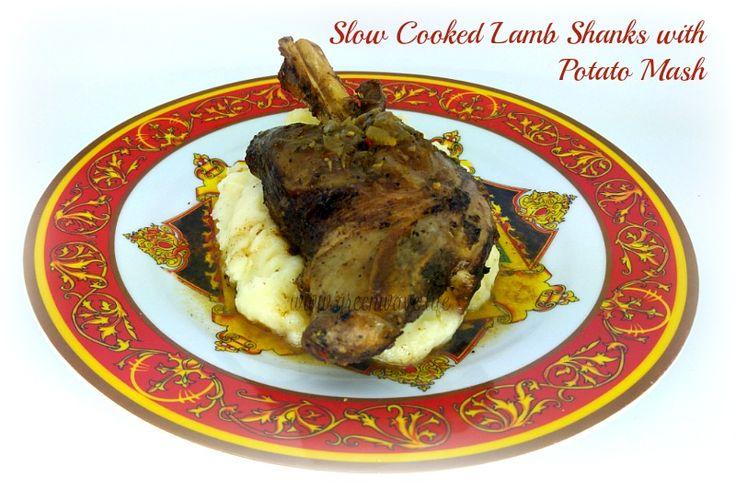 Slow Cooked Lamb Shanks with Potato Mash