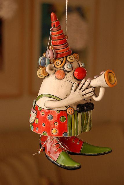 Clown Bell by natalyasots on Etsy, $95.00