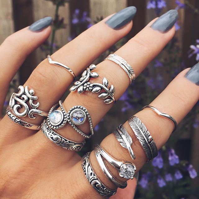 I have always loved wearing rings on multiple fingers! All of these are designs I would buy. Actually, I have one of them.. .