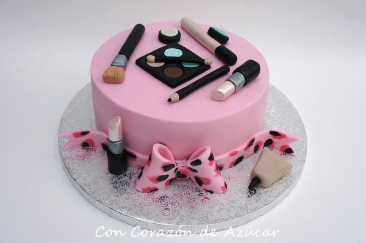 17 Best Images About Makeup Fondant Cake Make Up Cake