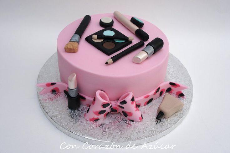 17 Best Images About Makeup Fondant Cake Make Up Cake