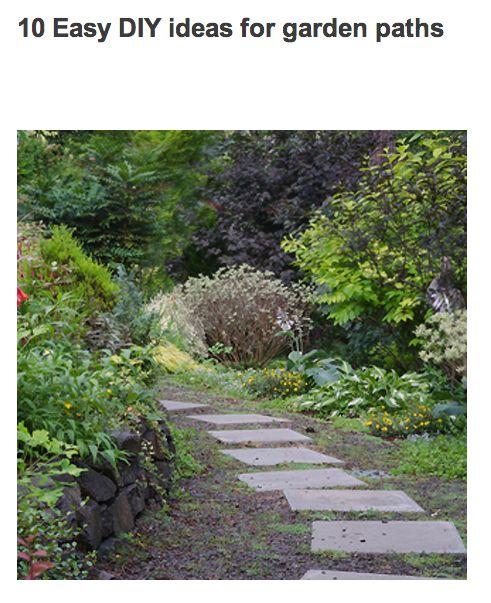 Ways to create a garden path.