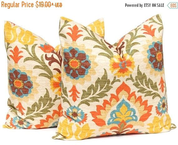 SALE Decorative Throw Pillow Cover - Santa Maria Adobe - Floral Pillow covers…