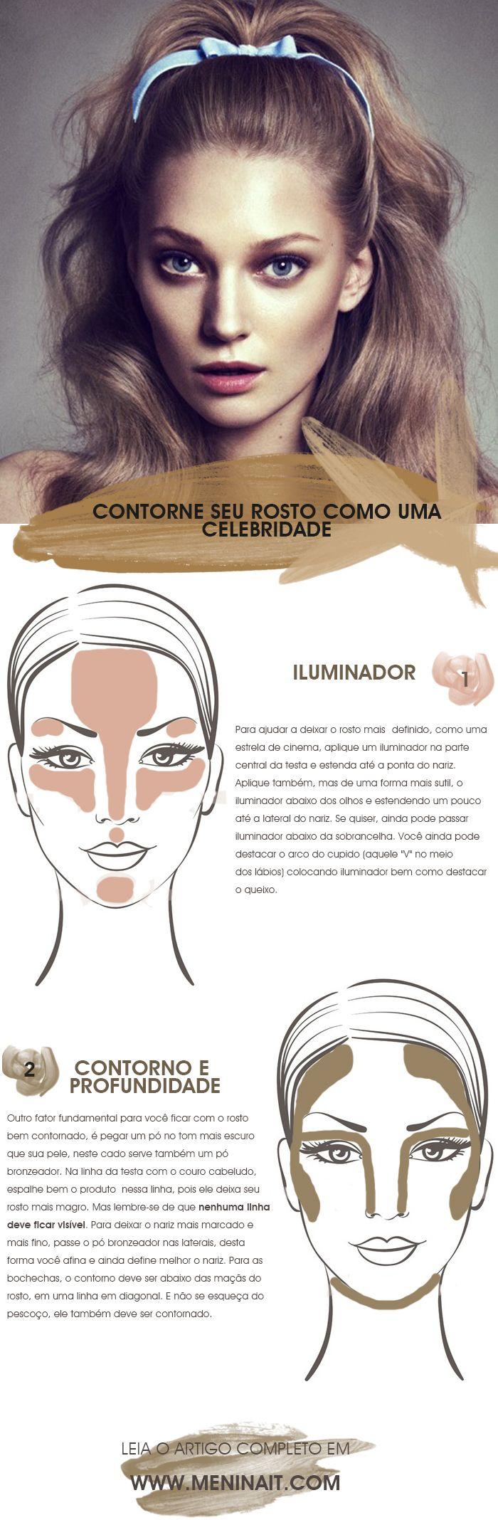 HOW TO como deixar o rosto contornado como uma celebridade dica de beleza blog MeninaIT