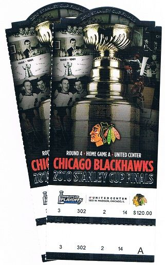 Tickets to a Blackhawks game.... I WANT