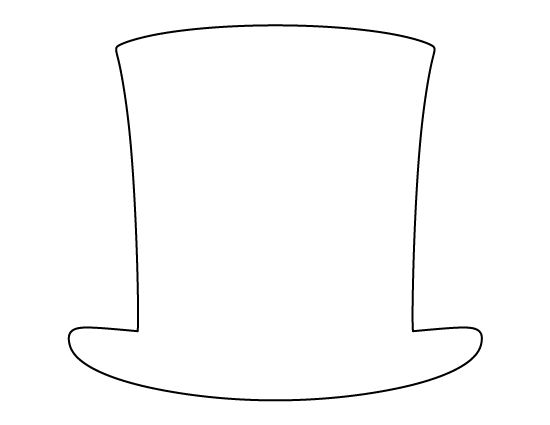 Abraham Lincoln hat pattern. Use the printable outline for crafts, creating stencils, scrapbooking, and more. Free PDF template to download and print at http://patternuniverse.com/download/abraham-lincoln-hat-pattern/