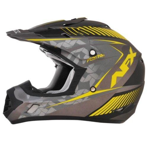 Afx Fx-17 Helmet Fx17 Fact Fl-yl Large 0110-4496, Grey