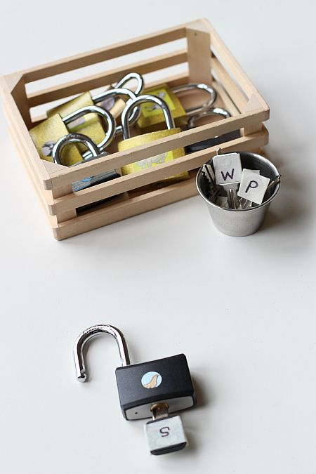 Letter Sounds Activity with Locks - No Time For Flash Cards