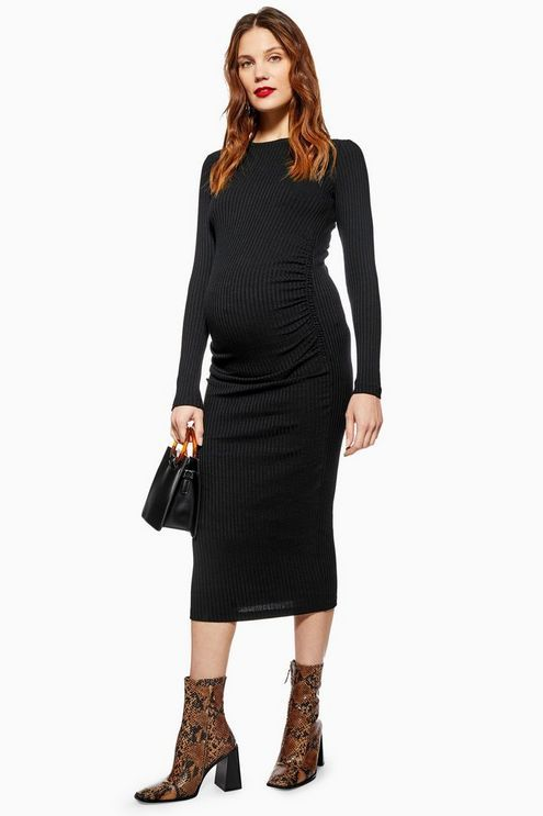 d77b8c253f MATERNITY Ruched Side Bodycon Dress in 2019   Products   Dresses ...