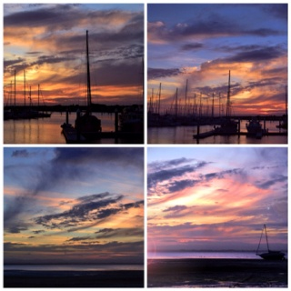 #sunset #beach #sky #clouds #boats #ocean #scarborough #water