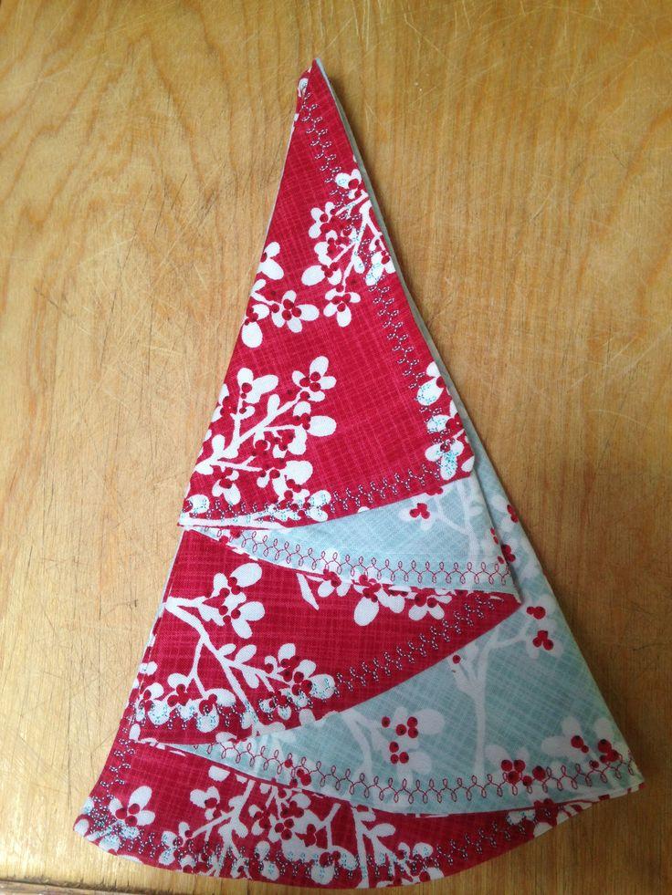 Folded Christmas Tree Napkin