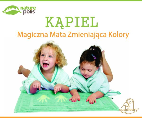 Stworzony z myślą o bezpiecznym wychodzeniu z wanny lub spod prysznica. Mata chroni dziecko przed zimną podłogą oraz przed poślizgnięciem. Mata dodatkowo zmienia kolor, kiedy się jej dotknie lub na niej stanie! Gwarancja bezpieczeństwa i świetnej zabawy :)  http://www.naturepolis.pl/pl/akcesoria/250-cuddledry-cuddlemat-magiczna-mata-po-kapieli-zmieniajaca-kolory-0-30mies-5060159120580.html