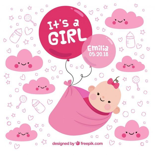 Baixe Estilo De Fundo Do Bebe Na Mao Desenhada Gratuitamente Girl Background Baby Girl Cartoon Images How To Draw Hands