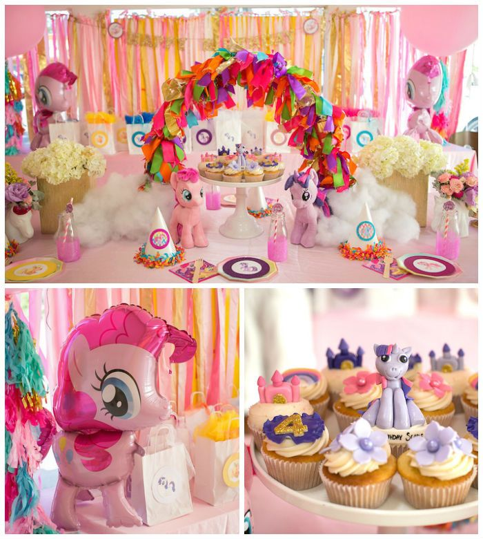 Delightful Birthday Theme Decoration Ideas Part - 10: My Little Pony Pink Birthday Party