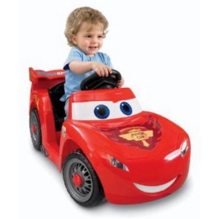 Fisher-Price Power Wheels Lightning McQueen 6-Volt Battery-Powered Ride-On (Ages 12 mos - 3 years)